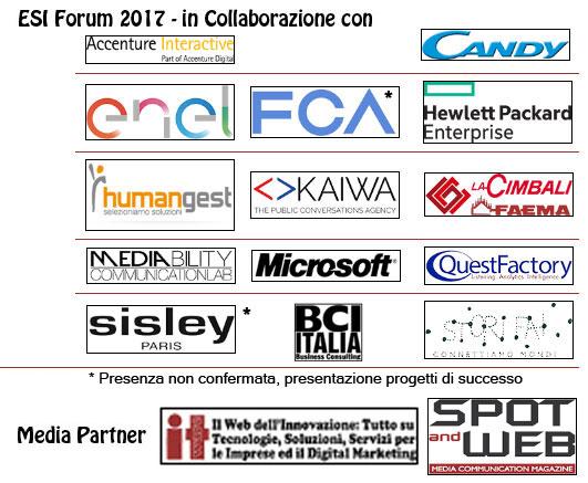 Loghi Sponsor ESI Forum 2017