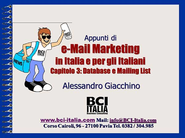 eMail Marketing Capitolo 3 Database e Mailing List 1