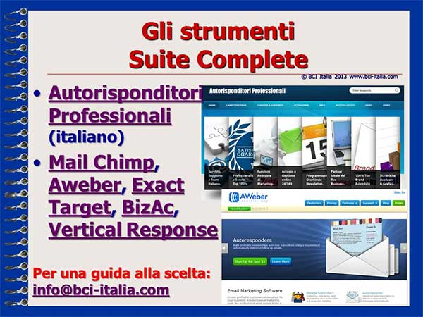 e-Mail Marketing in Italia e per gli Italiani Capitolo 5 Slide 11